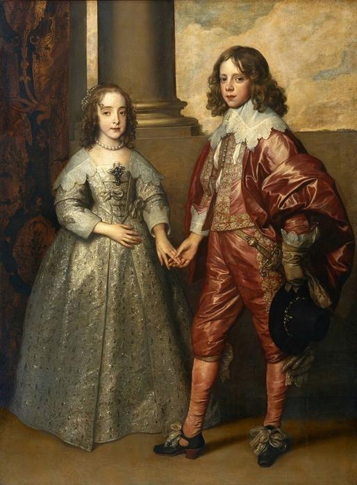 Мария Стюарт и Вильгельм Оранский. Свадебный портрет.
